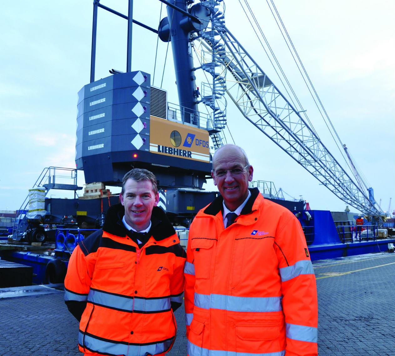 Andrew Byrne, managing director of DFDS Seaways, and Alan Finch, DFDS terminal director.