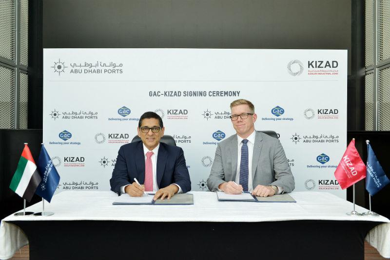 From left to right:  Samir Chaturvedi, KIZAD CEO, and Göran Eriksson, GAC Abu Dhabi's Managing Director.