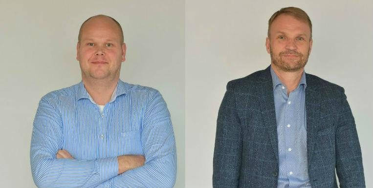 From left to right: Ville Koskinen, managing director of VG-Shipping, and Bengt-Erik Rosin, managing director of Meriaura Group.