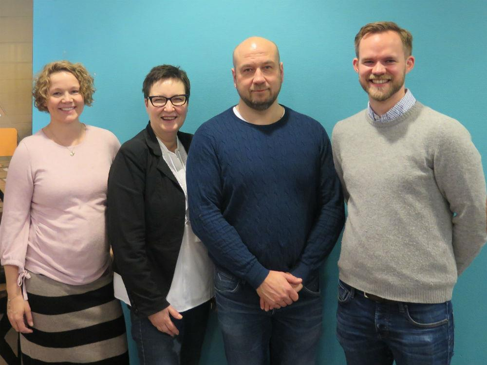 GAC Norway's regional manager Henning Kjøs Lien (far right) with the team he is working with at Tromsø: Reidun K. Lie (SIVA representative); Marit Andreassen, Linken (receptionist and coordinator) and Dan Røberg (shipping agent).