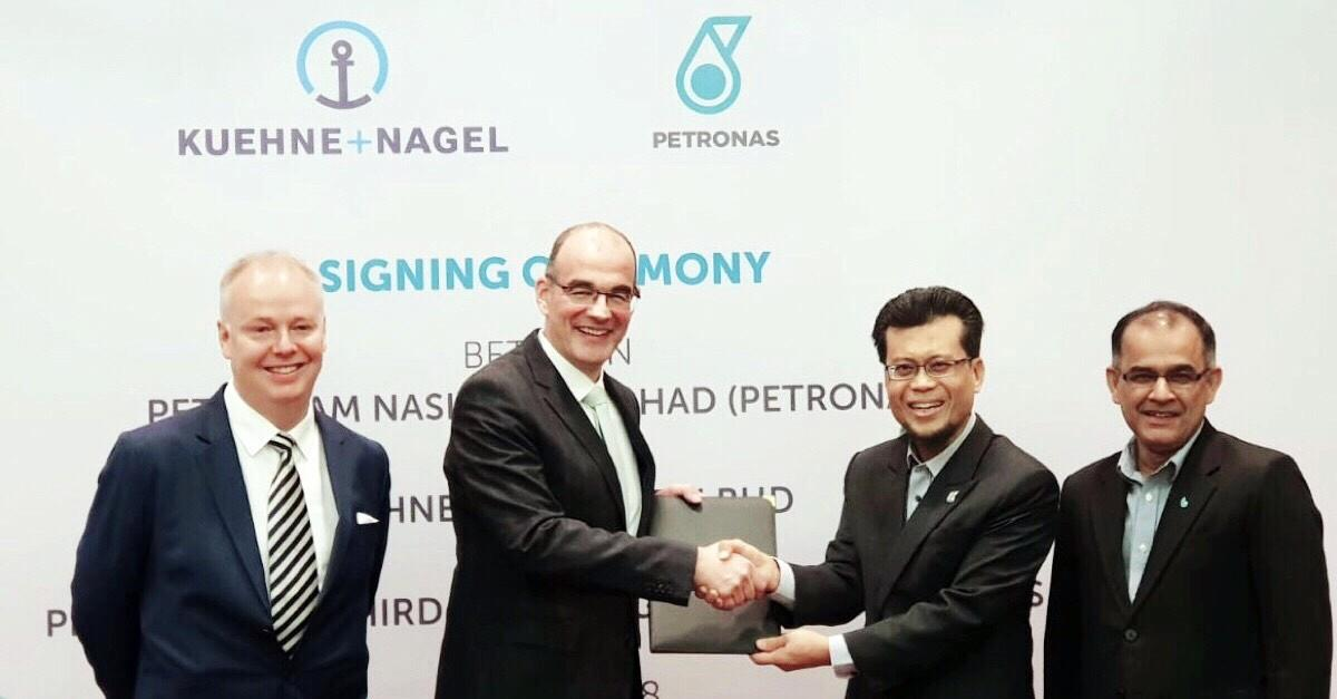 Left to right: Kenneth Bybjerg, regional oil and gas project manager, Kuehne + Nagel South Asia Pacific; Jens Drewes, president, Kuehne + Nagel South Asia Pacific; Samsudin B Miskon, vice president, group procurement, Petronas; Noor Mohamda bin Taj Mohamad, head, group procurement, Petronas.