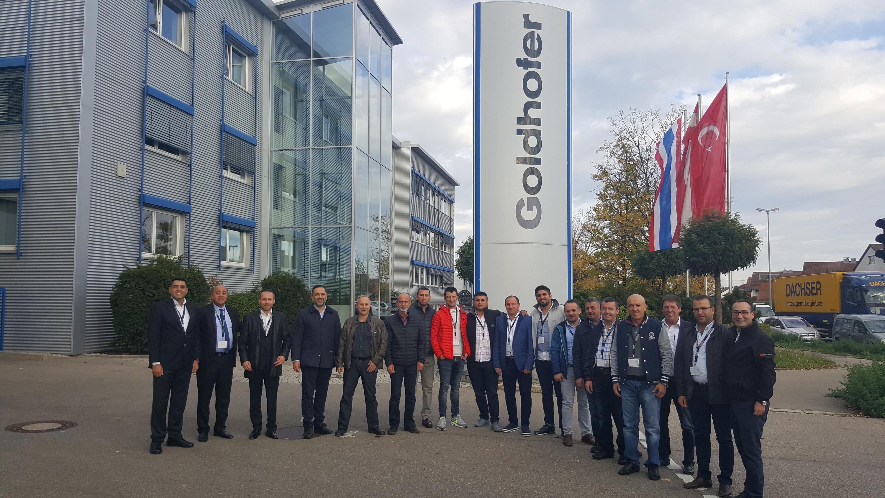AND delegates visited Goldhofer's headquarters in Germany to see the latest trailer technologies.