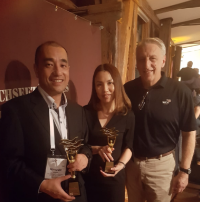 Pictured left to right, Hiroyuki Shiono and May Leong, directors of MSL Global, with Bruce Cutillo general manager WCA Projects & Dangerous Goods networks.