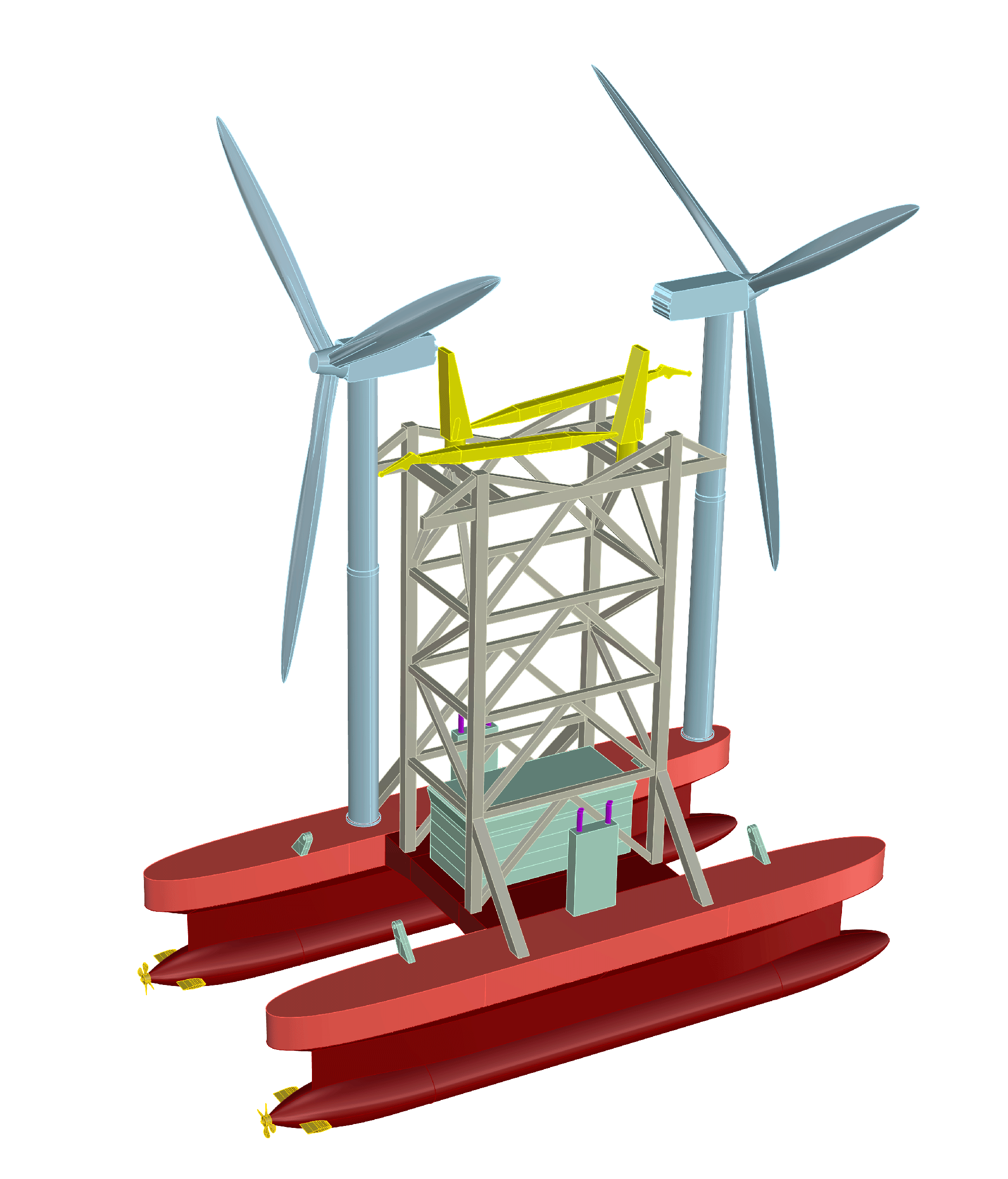 A rendering of the wind turbine shuttle.