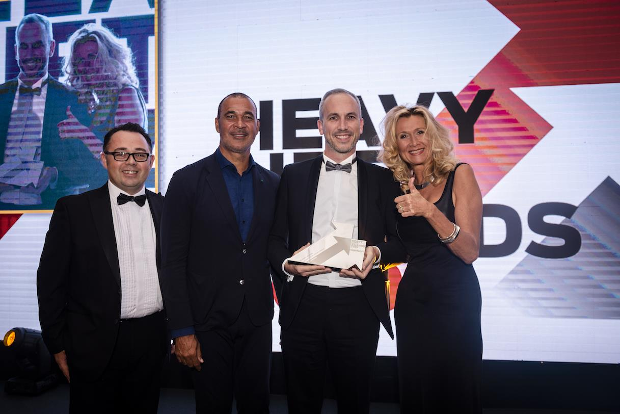 Gert Hendrickx, sales director at Sarens, was presented with the Safety Award at the inaugural Heavy Lift Awards.