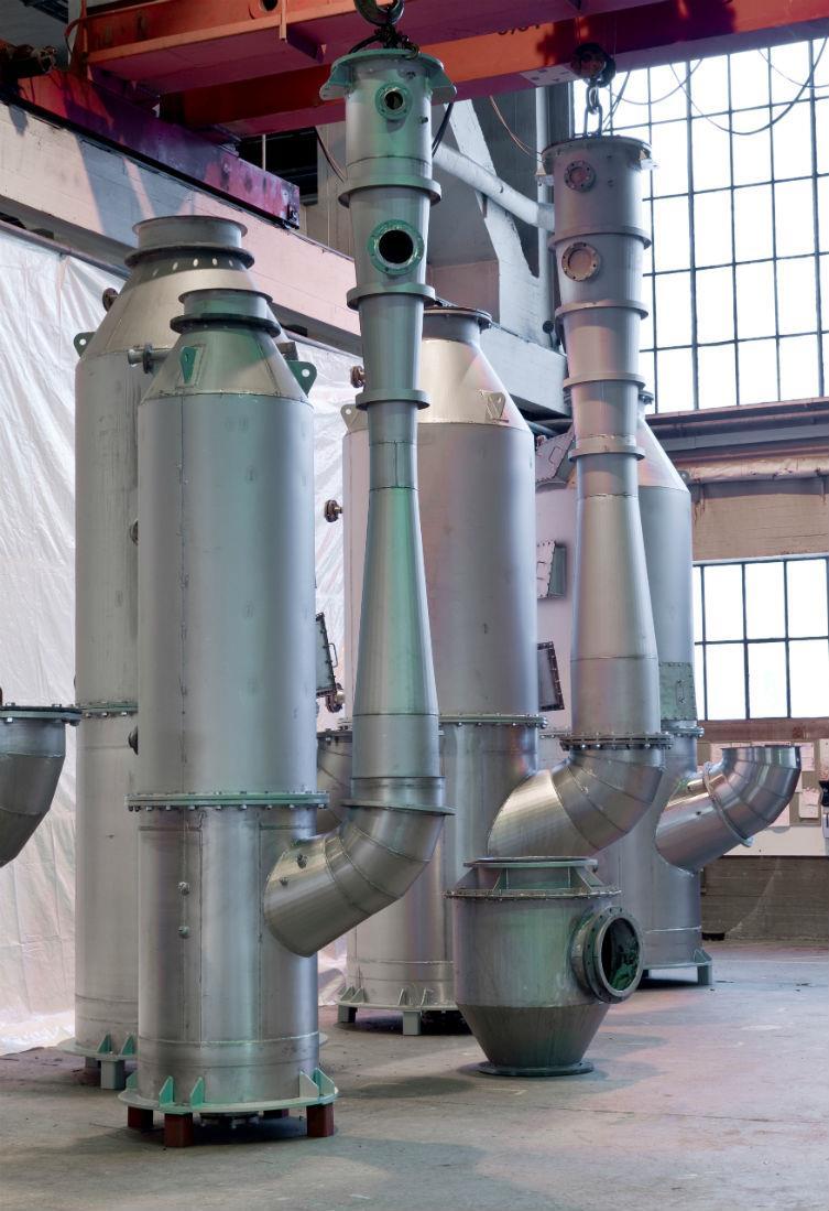 A Wärtsila open loop scrubber system. Photo credit: Wärtsila