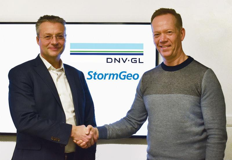 Trond Hodne, Senior Vice President at DNV GL – Maritime (left), and Per-Olof Schroeder, CEO, StormGeo