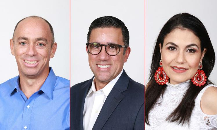 From left to right: Patrick Collins vice president of terminal operations, Jose Ayala vice president of Caribbean logistics and Claudia Kattán de Jordán vice president of Central America logistics