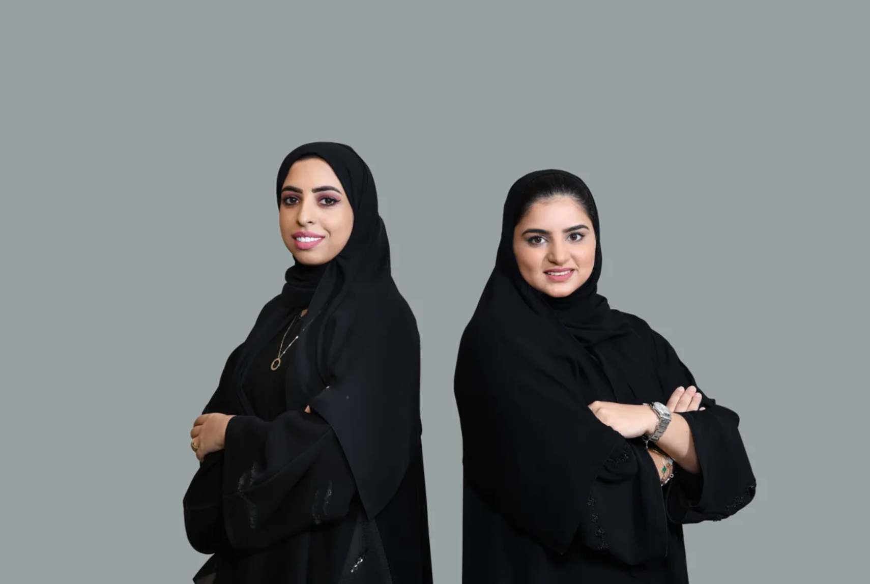 Alyazeya Saeed (right) and Fatma Ahli (left).