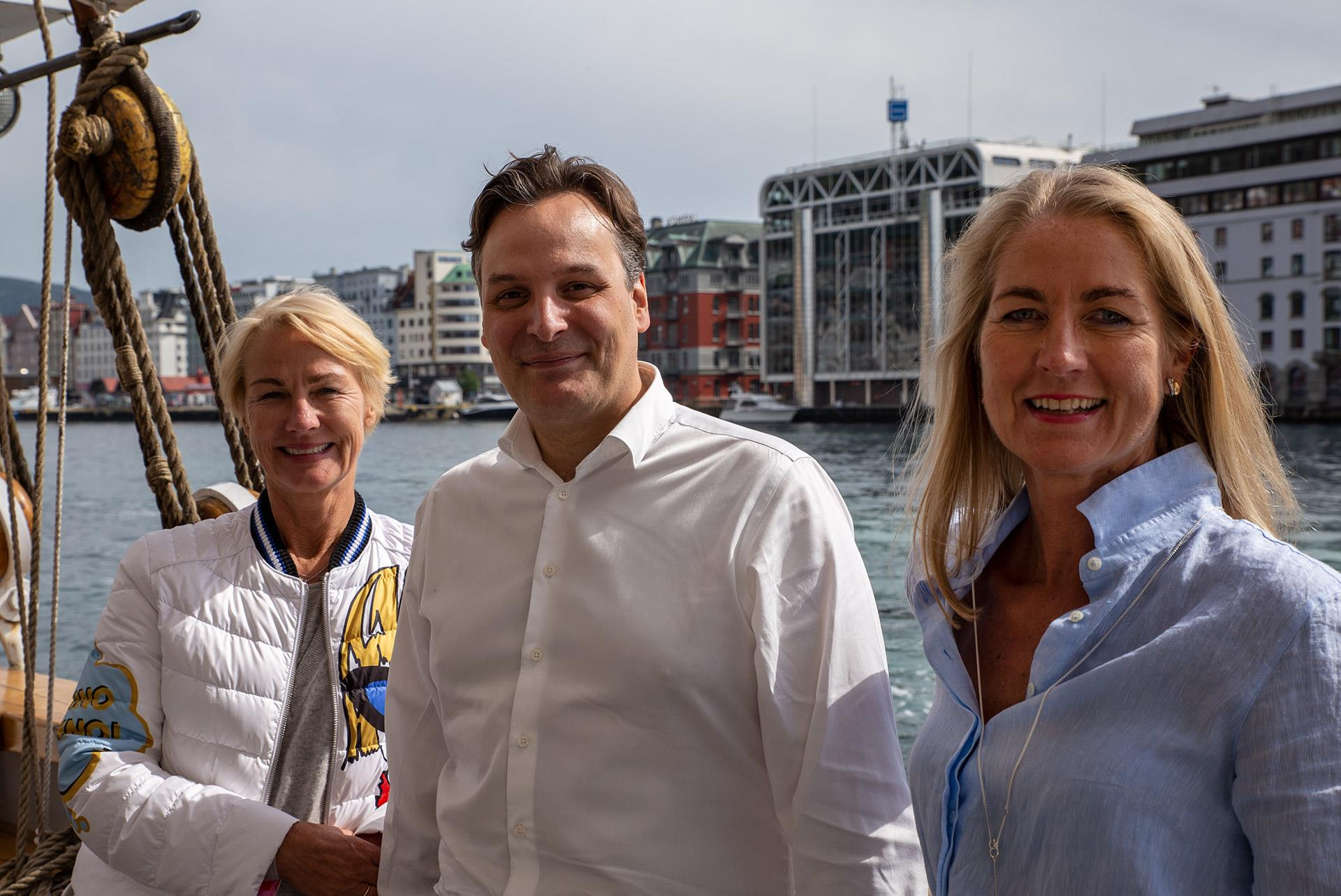 From left to right: Elisabeth Grieg, Matt Duke and Camilla Grieg.