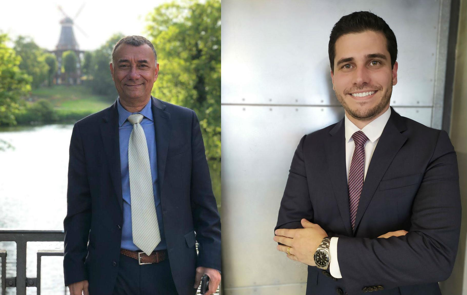 BrazGlobal's VitorPaulo S. Amaral and Over Projects' Marcelo Braga.