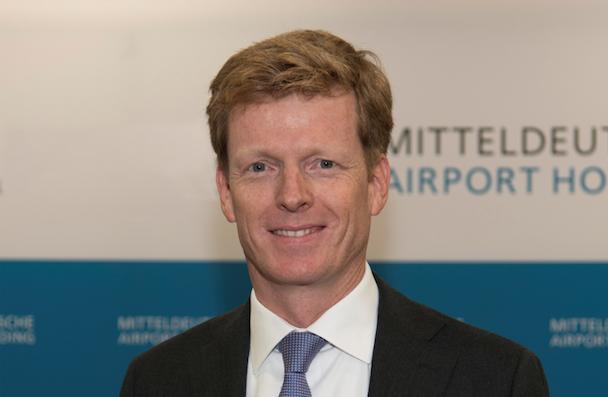 Götz Ahmelmann, ceo of the airport's holding company Mitteldeutsche Flughafen.