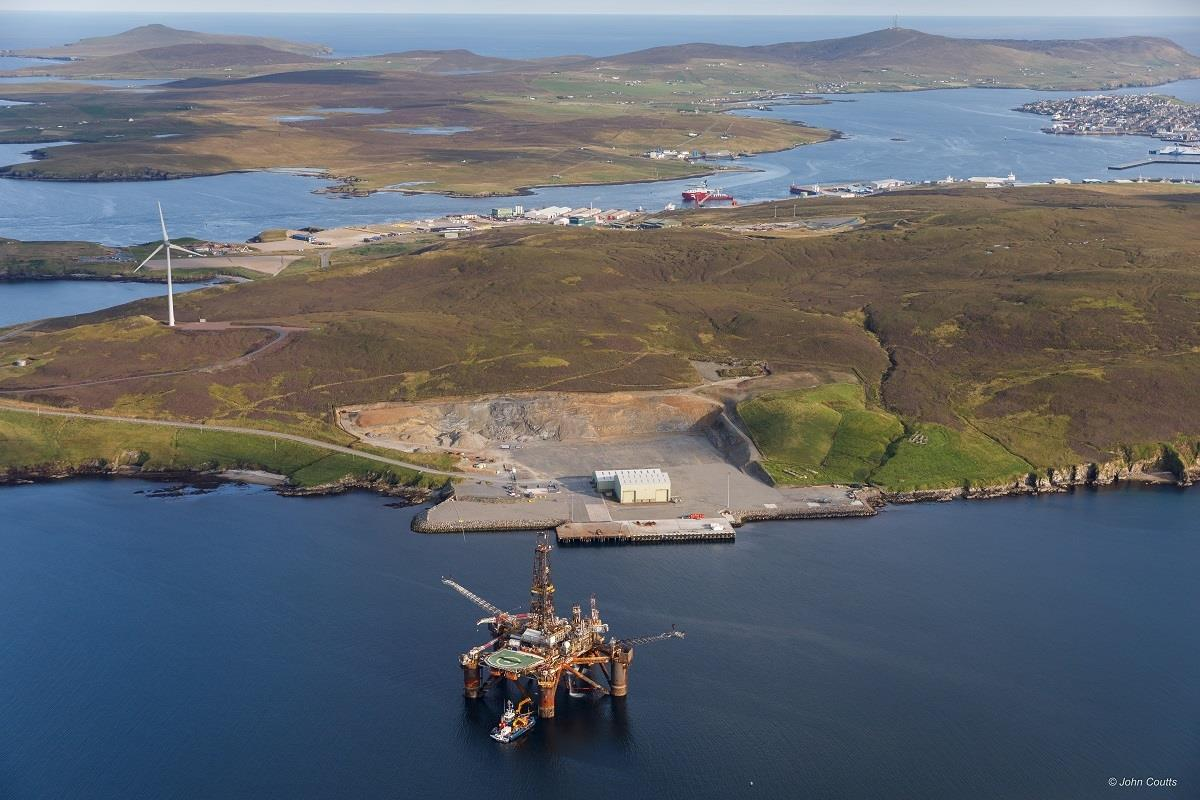 Repsol's former Buchan Alpha floating production at Dales Voe in Scotland. Photo credit: John Coutts.