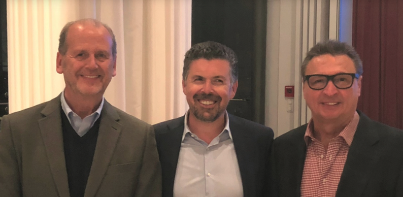 From left to right : Chris Cargill, Cargo Line non-executive director, Simon Pinto, Bansard International president and Detlef Kappel, Cargo Line president. Photo credit: Bansard International.