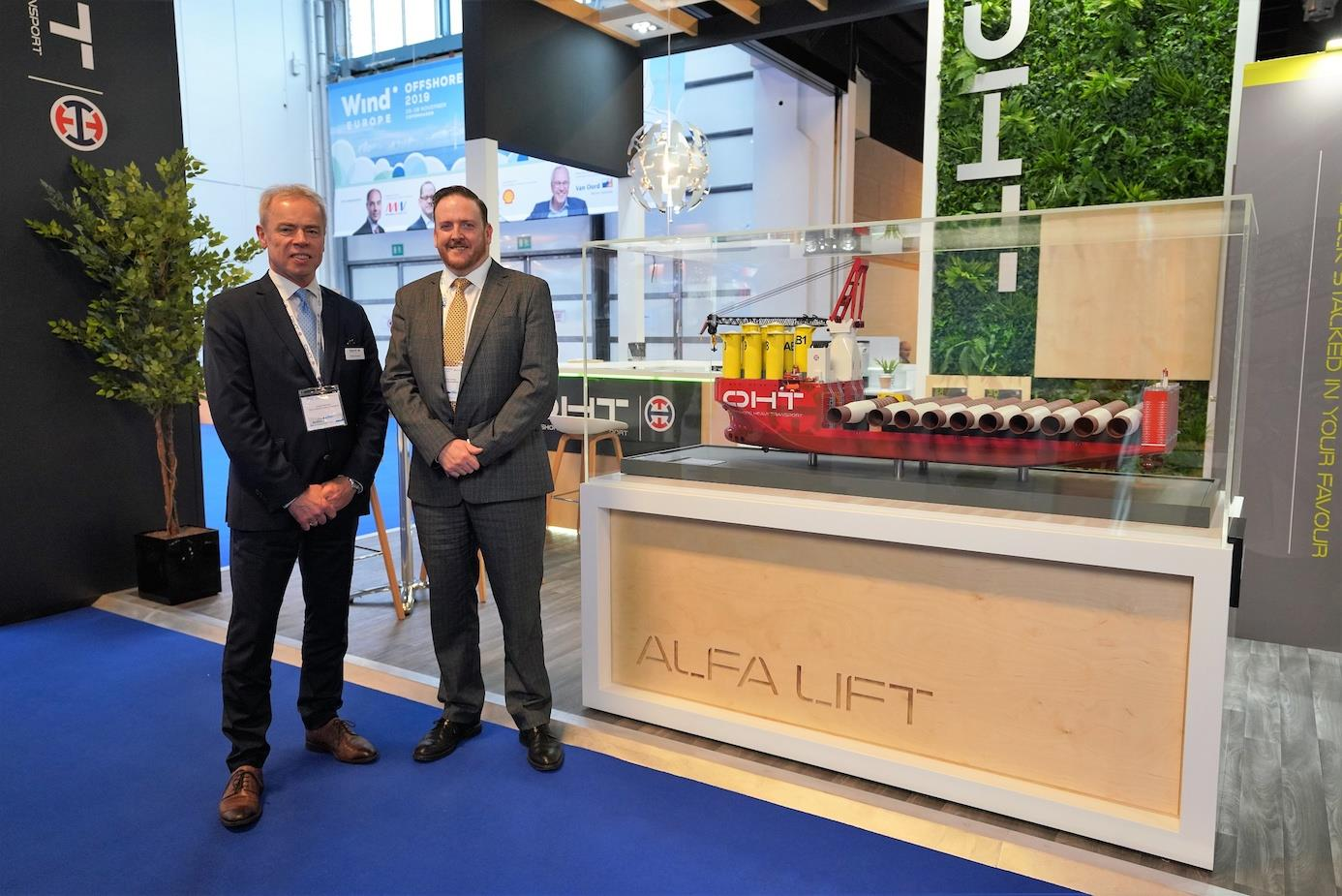 Paul Cooley, SSE Renewables director of capital projects together with Torgeir Ramstad, ceo of OHT.