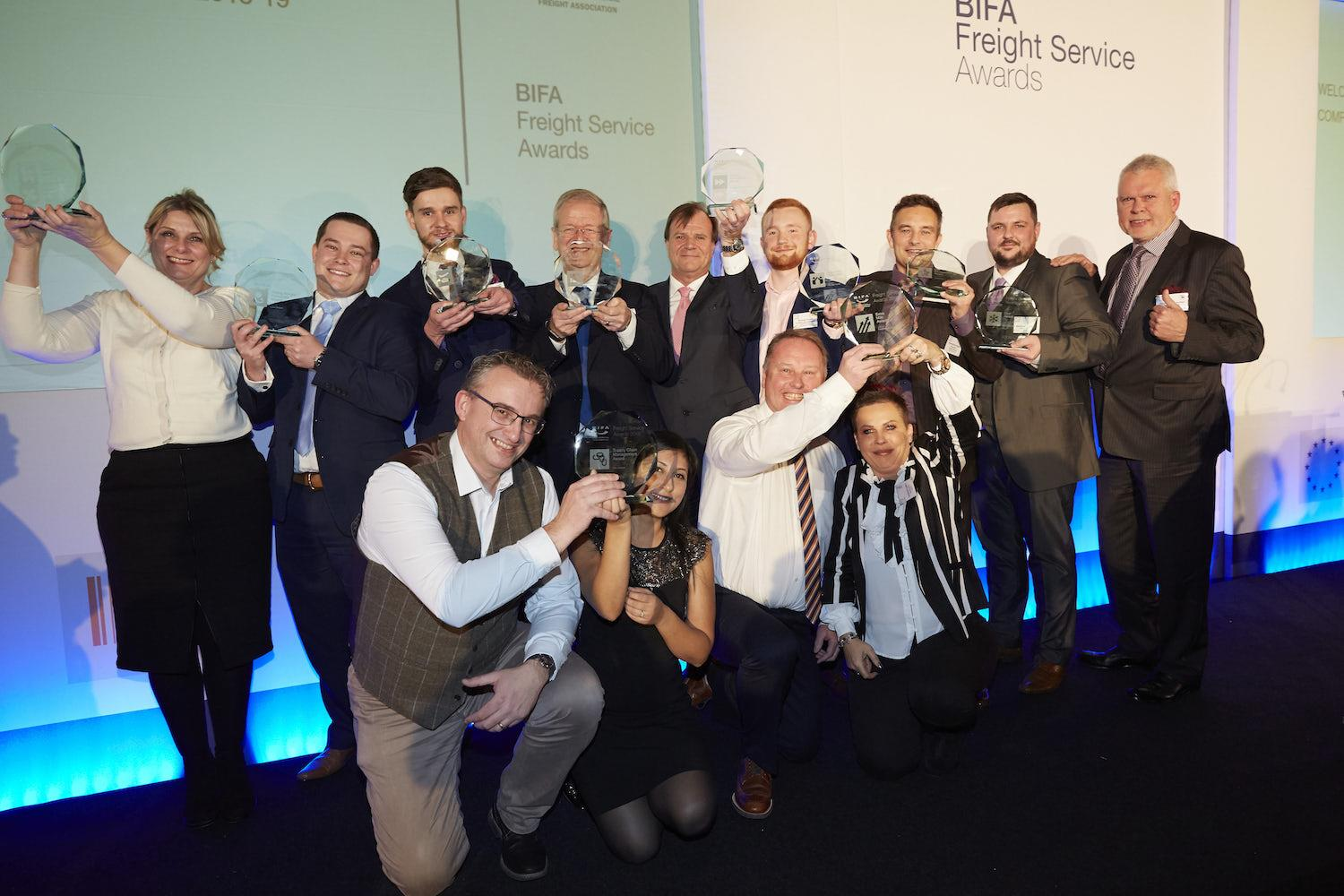 The winners of last year's BIFA Freight Service Awards.