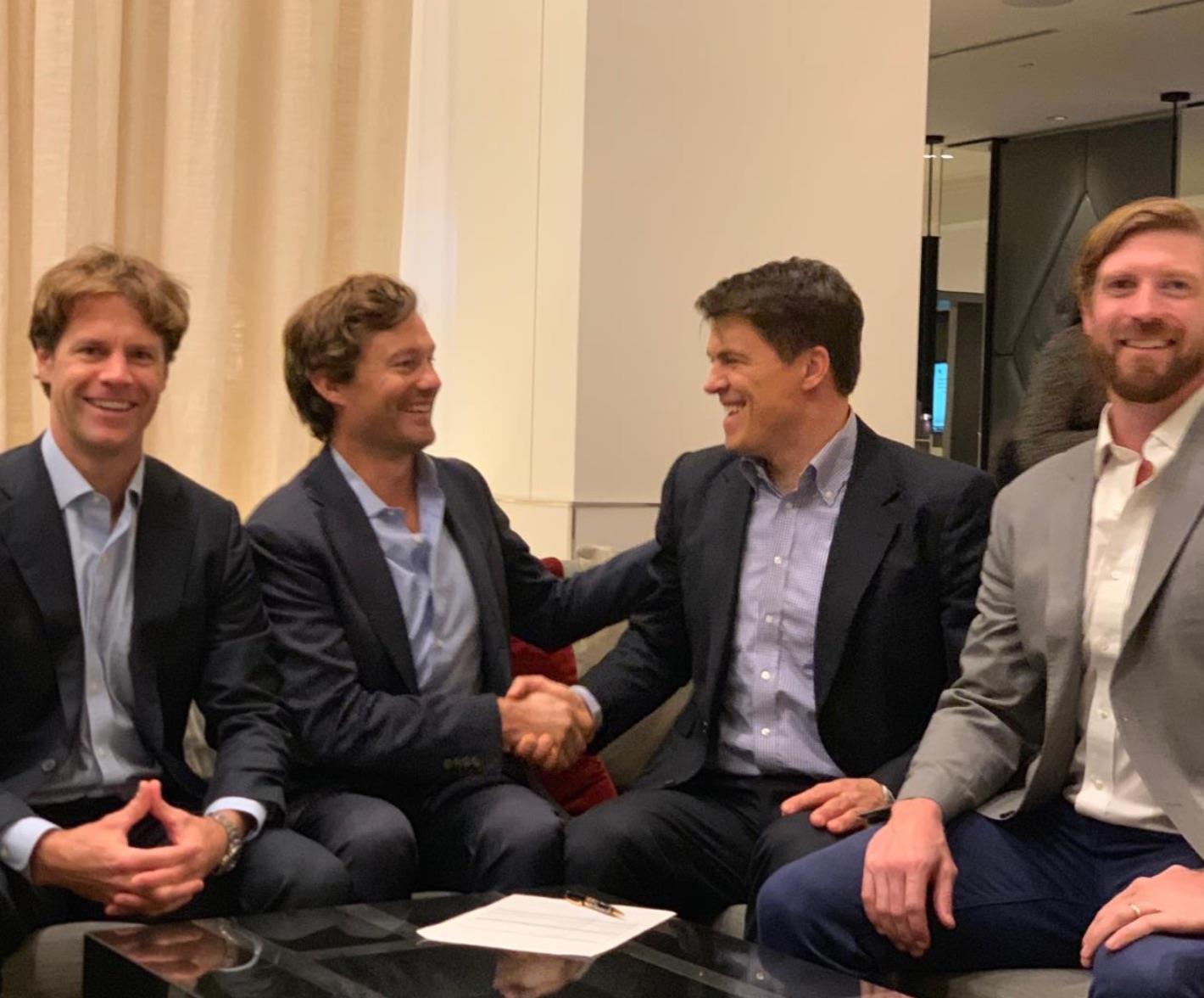 From left to right: Bradley Neuberth, Volckert van Reesema, Matthias Müller and Pace Ralli
