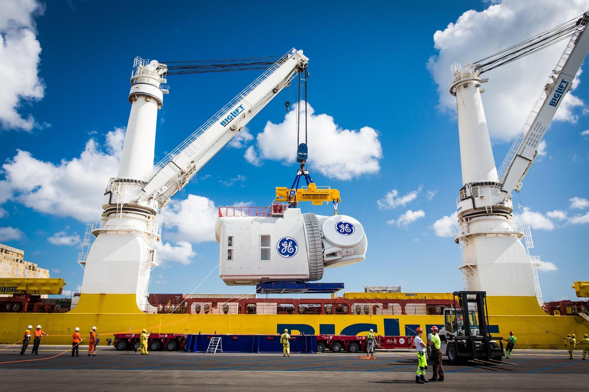 In August, Sogrebas, member of The Heavy Lift Group (THLG), provided stevedoring services to support the transport of the Haliade-X nacelle.