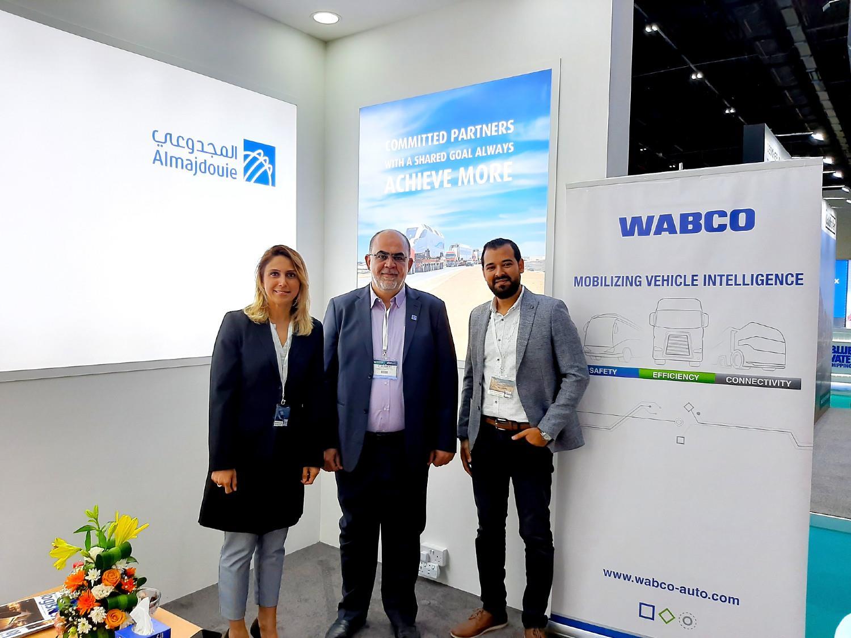 Suzanna Perrier (WABCO), Eyad Hamzah Arafah (Almajdouie), and Osama Mohamed Zeid (WABCO)
