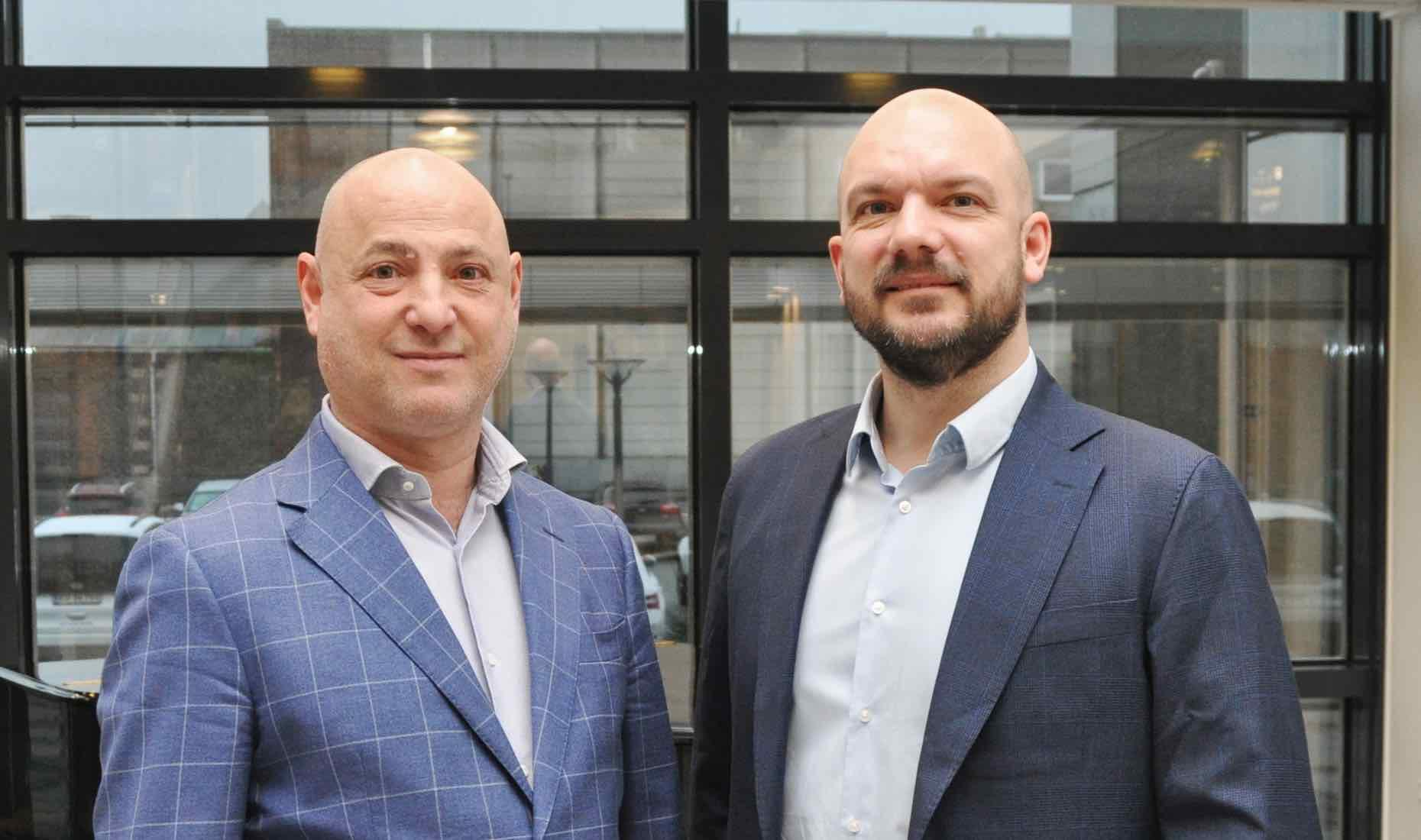 From left to right: Alessandro Crocitto and Thomas Bek of Blue Water Shipping.