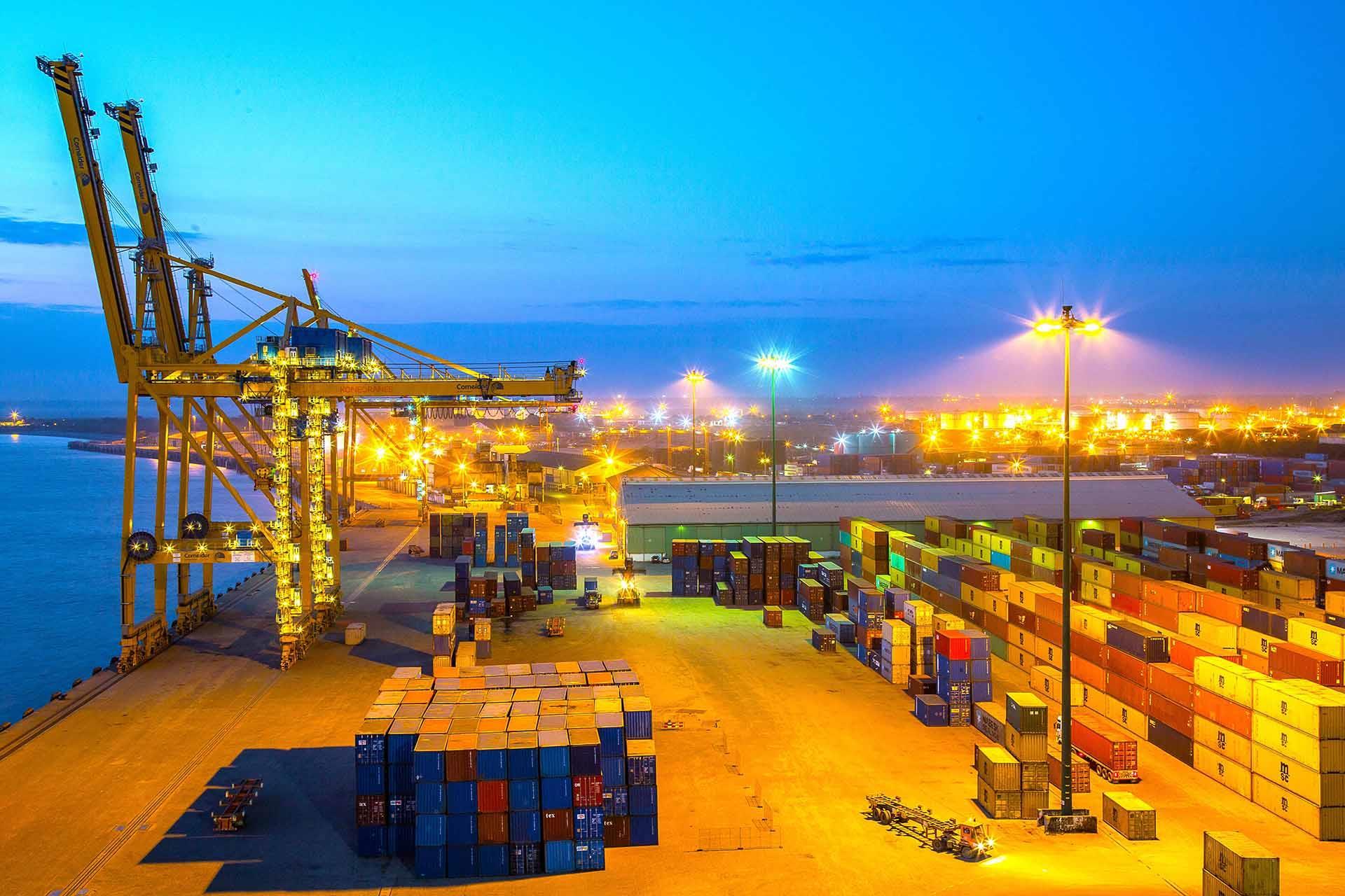 Port of Beira, Mozambique.