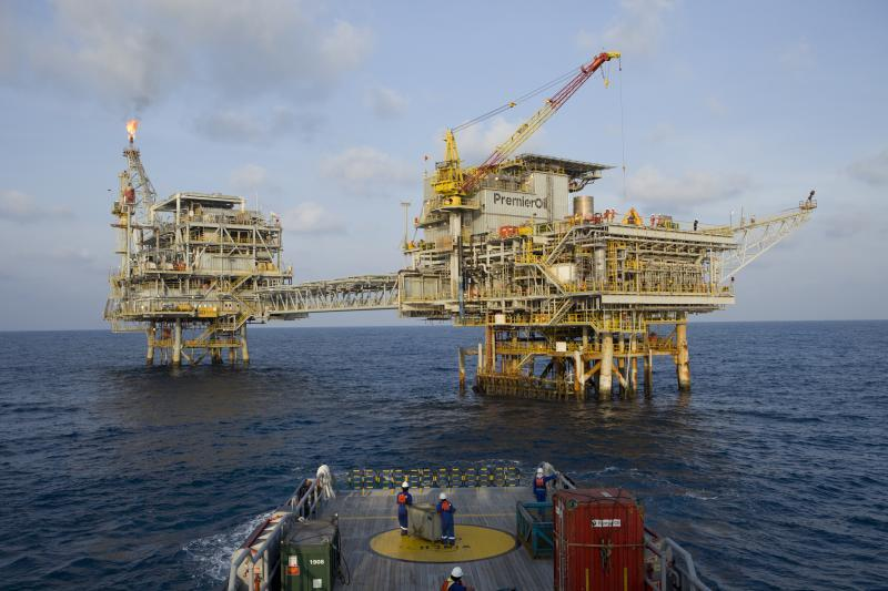 Premier Oil's Anoa platform off Indonesia.