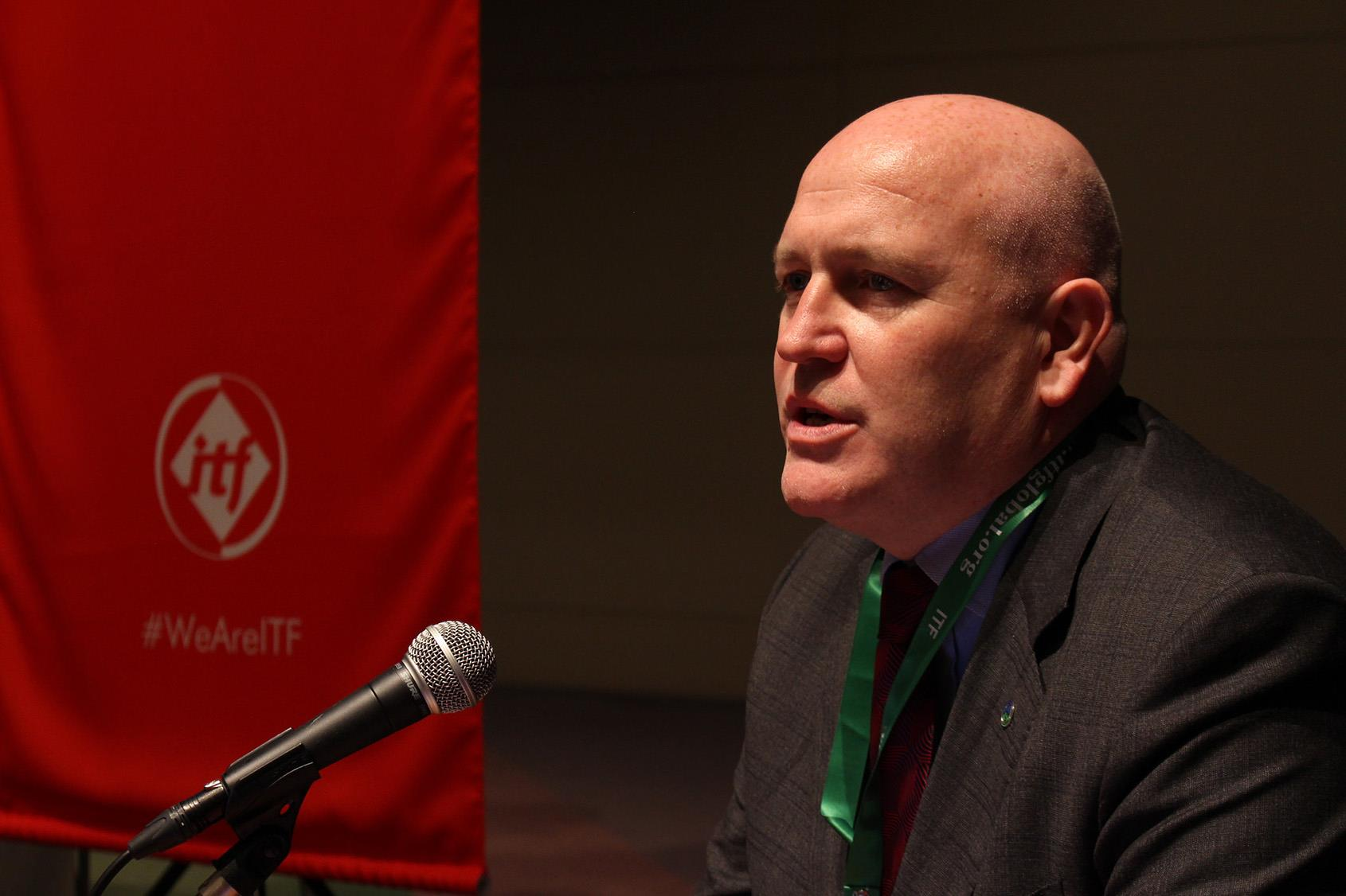 Stephen Cotton, general secretary of ITF.