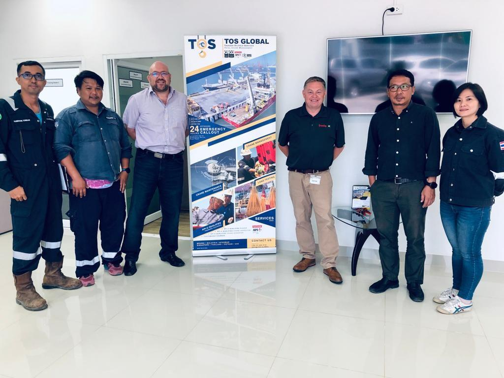Former Straightpoint ceo David Ayling (third right) visited Thunder Oilfield Services to secure the distributorship agreement.
