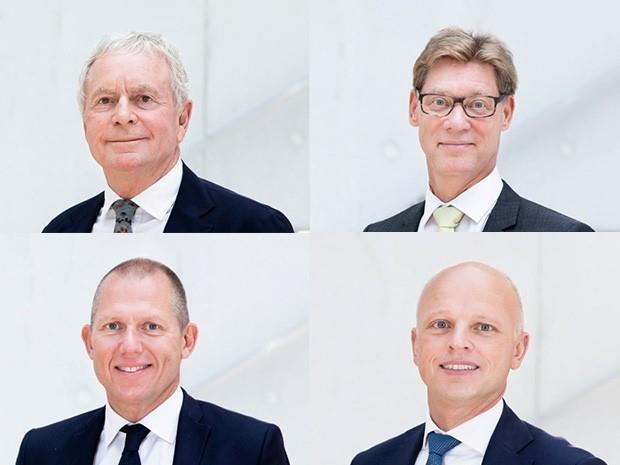 Kurt K. Larsen (top left), Thomas Plenborg (top right), Jens Bjørn Andersen (bottom left) and Jens H. Lund (bottom right). Photo credit: Panalpina.